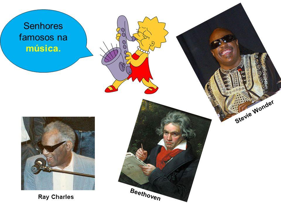 Senhores famosos na música.