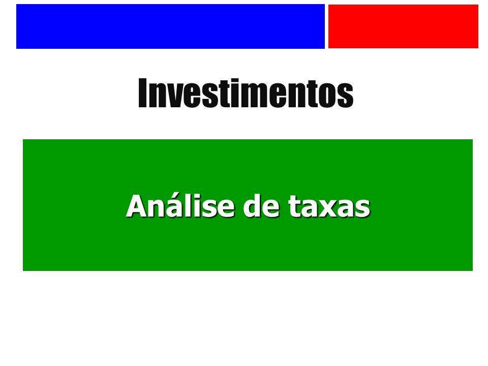 Investimentos Análise de taxas