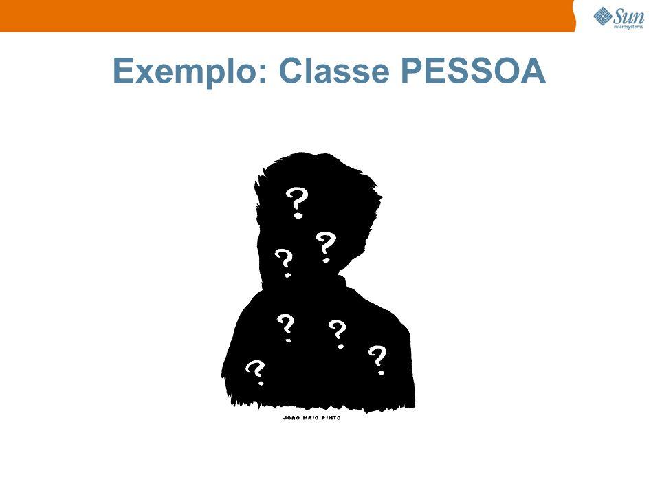 Exemplo: Classe PESSOA