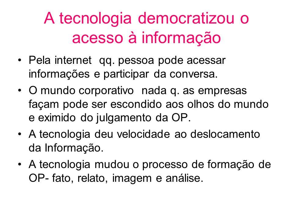 A tecnologia democratizou o acesso à informação
