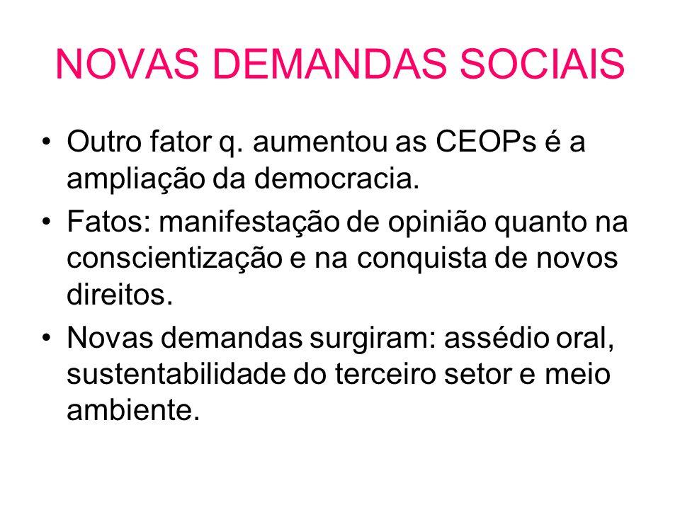 NOVAS DEMANDAS SOCIAIS