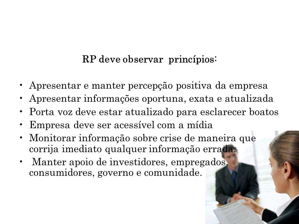 RP deve observar princípios: