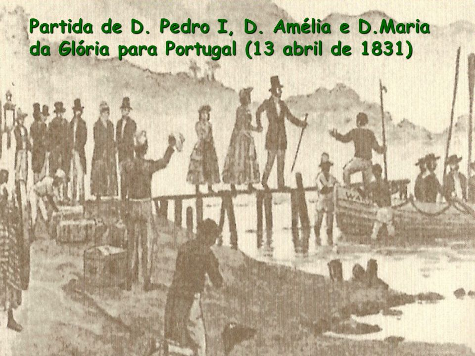 Partida de D. Pedro I, D. Amélia e D