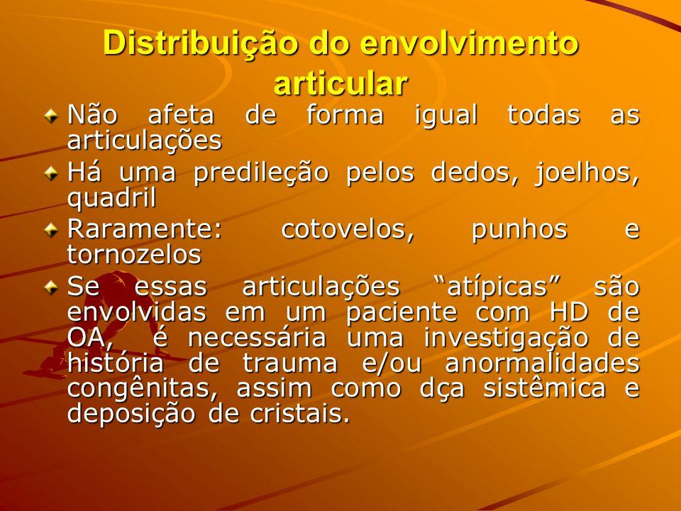 Distribuição do envolvimento articular