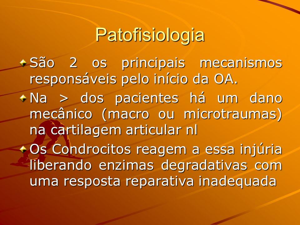 PatofisiologiaSão 2 os principais mecanismos responsáveis pelo início da OA.