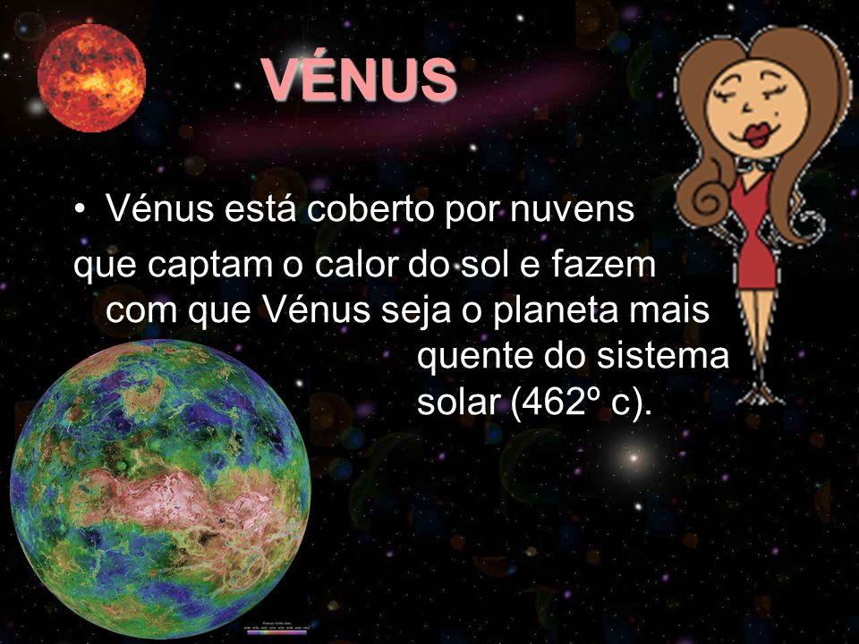 VÉNUS Vénus está coberto por nuvens