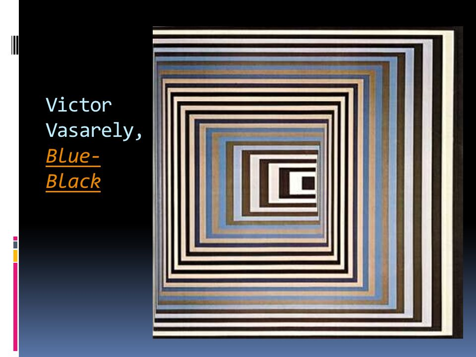 Victor Vasarely, Blue-Black