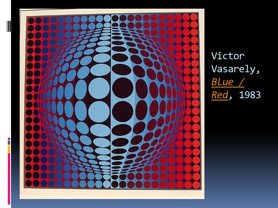 Victor Vasarely, Blue / Red, 1983