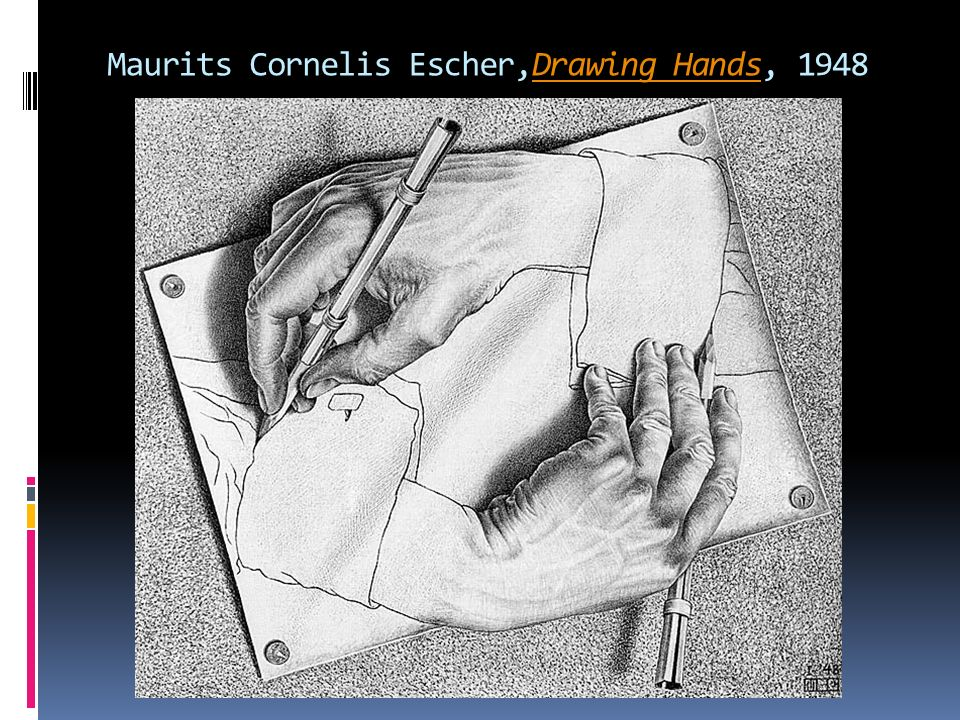 Maurits Cornelis Escher,Drawing Hands, 1948