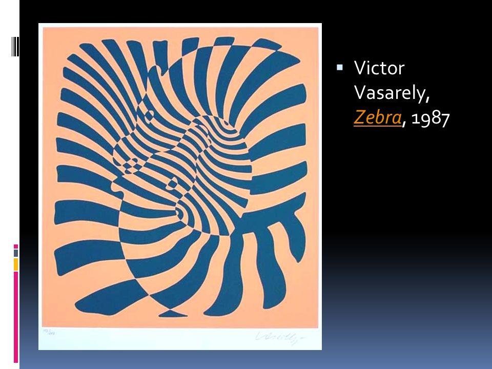 Victor Vasarely, Zebra, 1987