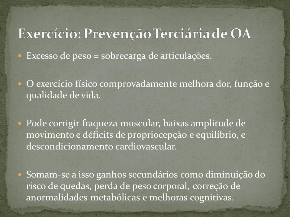 Exercício: Prevenção Terciária de OA