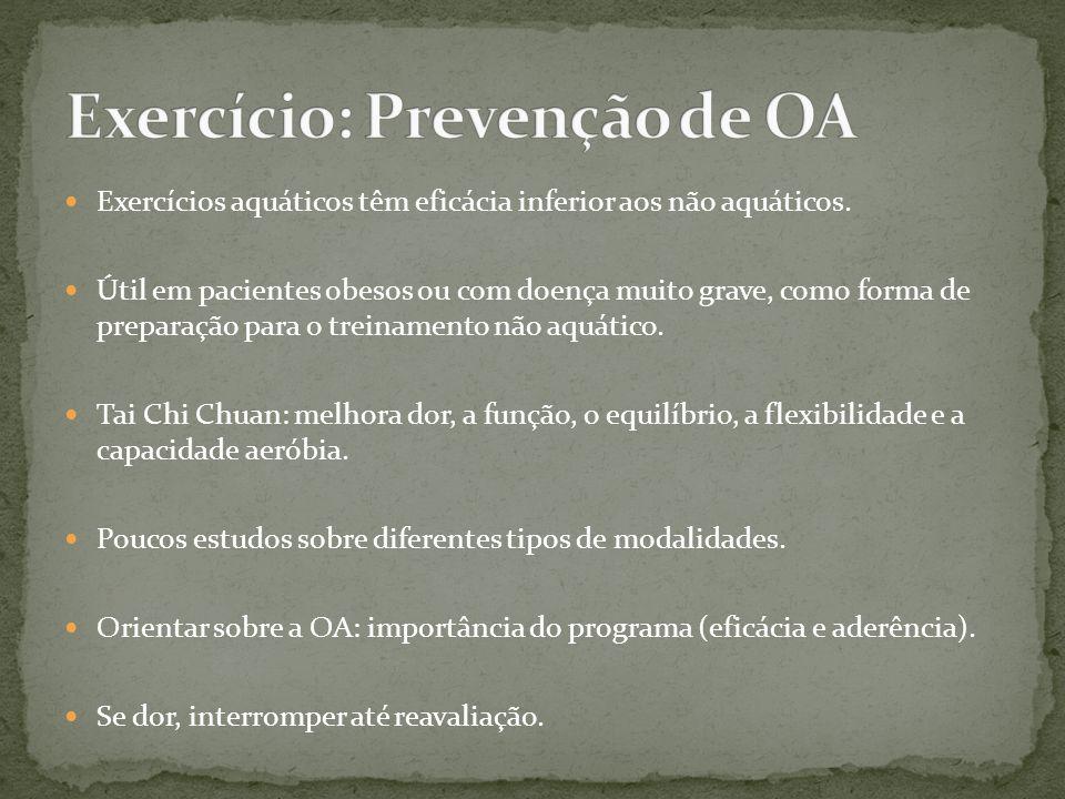 Exercício: Prevenção de OA