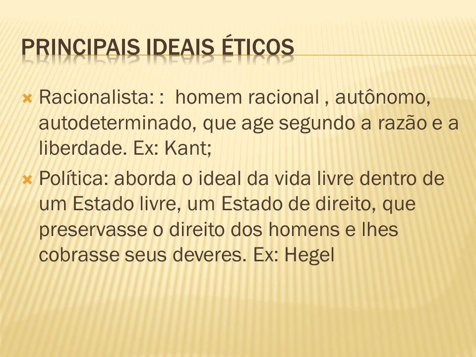 principais ideais éticos