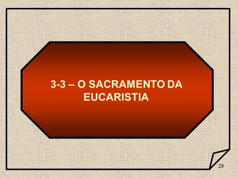 3-3 – O SACRAMENTO DA EUCARISTIA