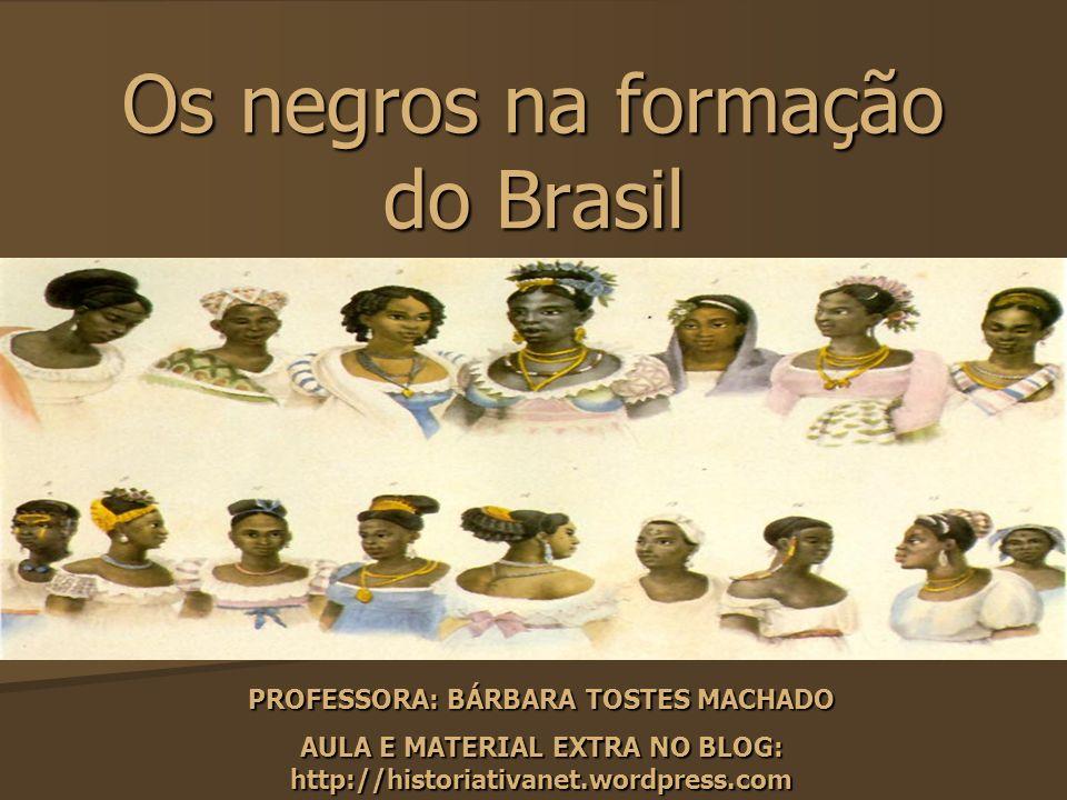 Os negros na formação do Brasil