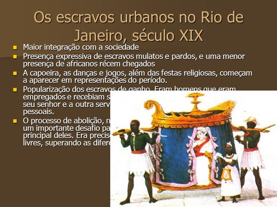 Os escravos urbanos no Rio de Janeiro, século XIX