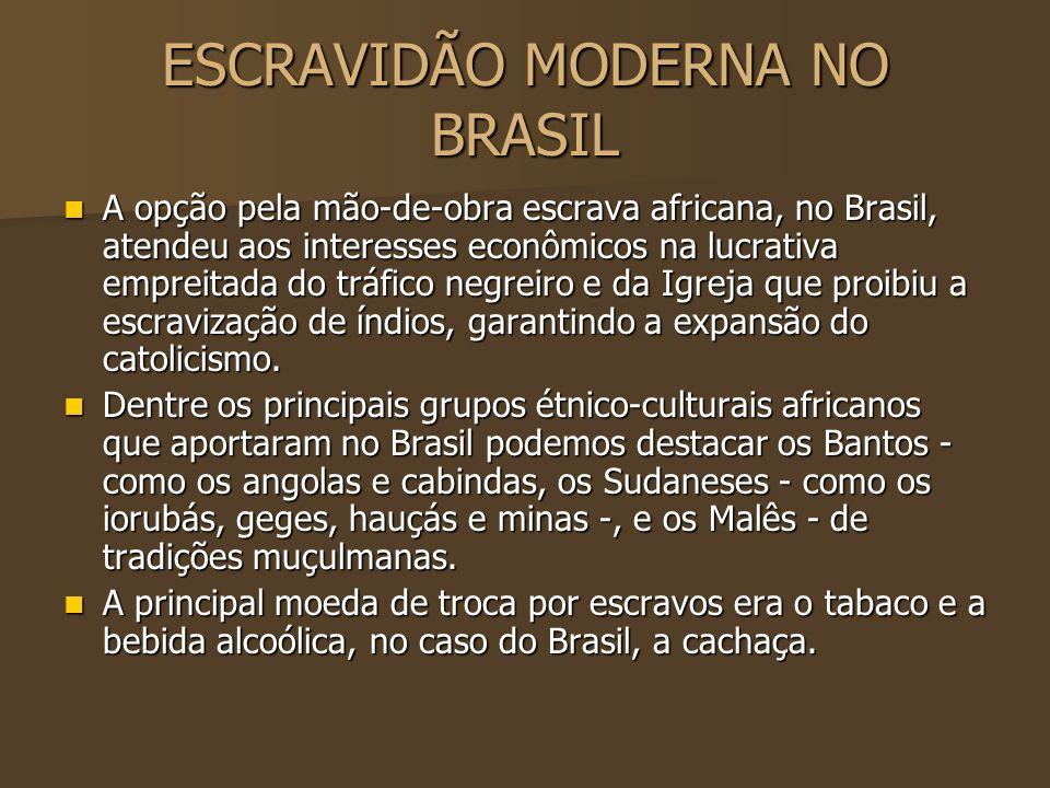 ESCRAVIDÃO MODERNA NO BRASIL