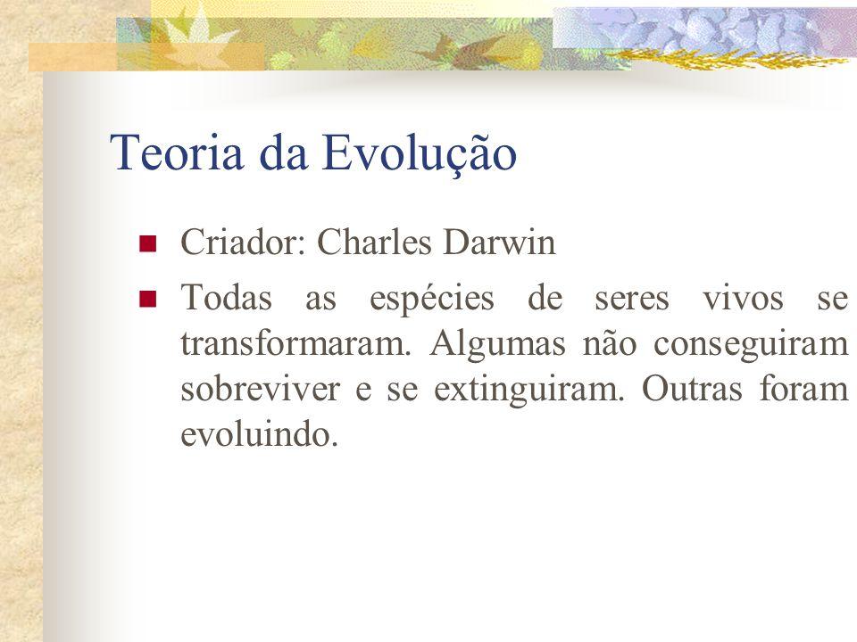 Teoria da Evolução Criador: Charles Darwin