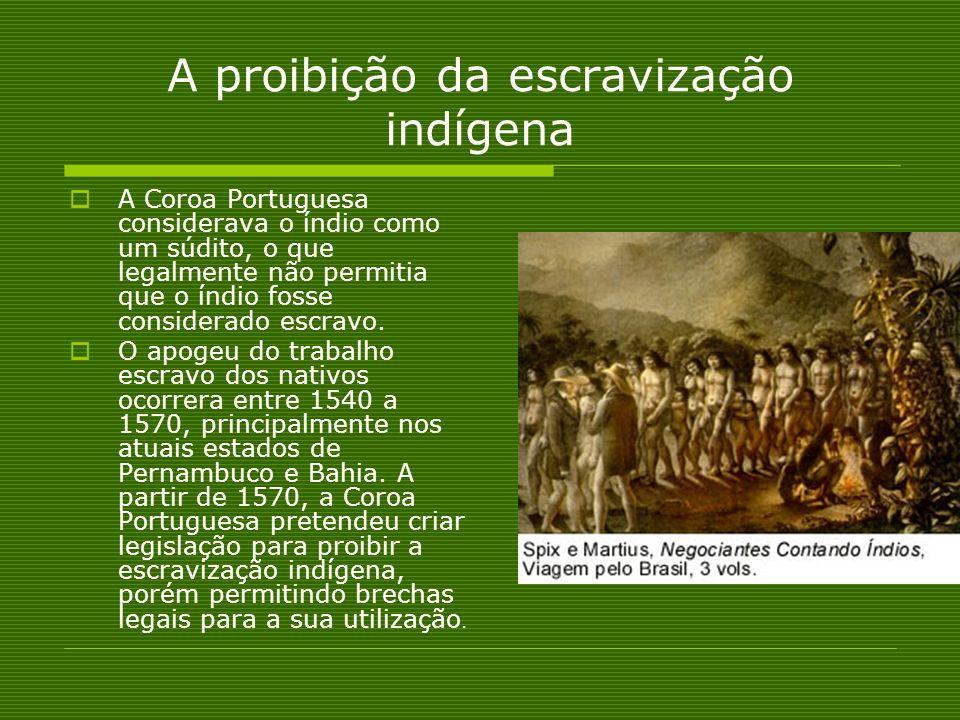A proibição da escravização indígena
