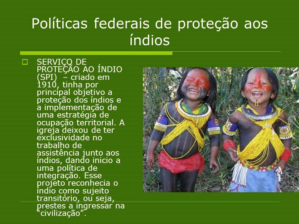 Políticas federais de proteção aos índios