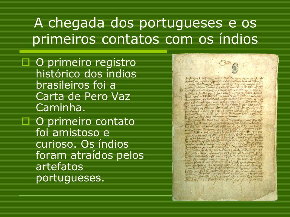 A chegada dos portugueses e os primeiros contatos com os índios