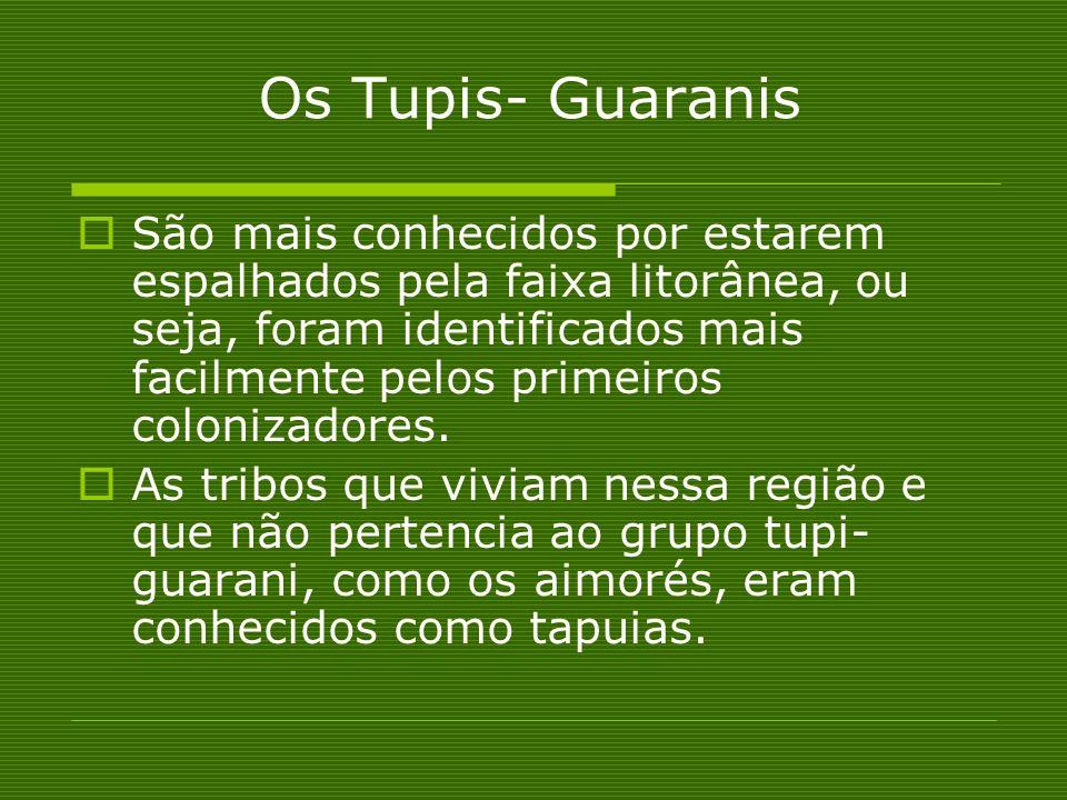 Os Tupis- Guaranis