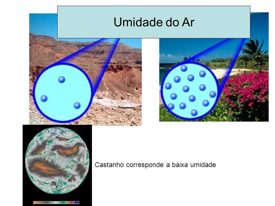 Umidade do Ar Castanho corresponde a baixa umidade