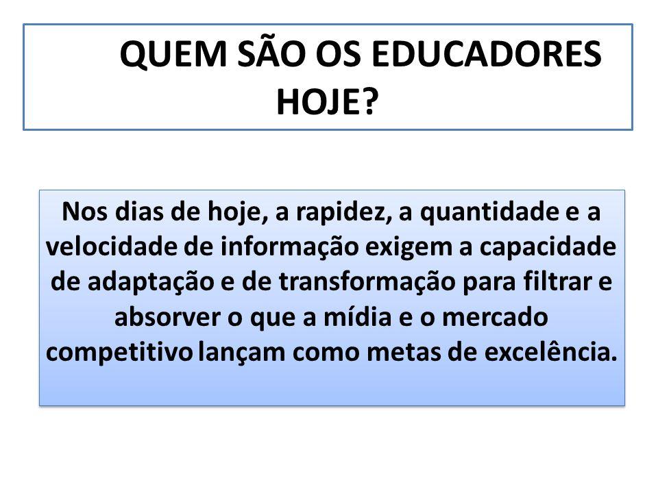 QUEM SÃO OS EDUCADORES HOJE