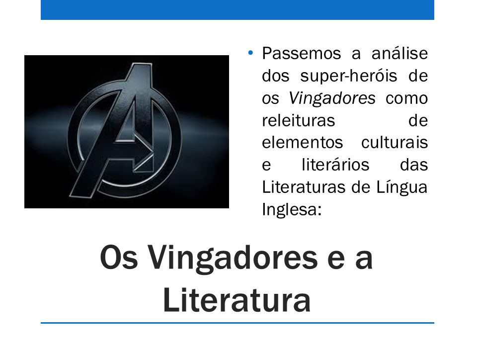 Os Vingadores e a Literatura