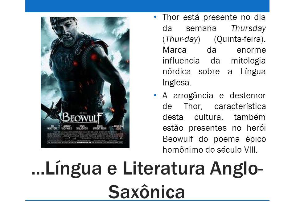 ...Língua e Literatura Anglo-Saxônica