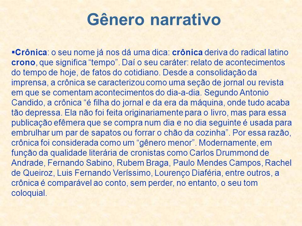 Gênero narrativo
