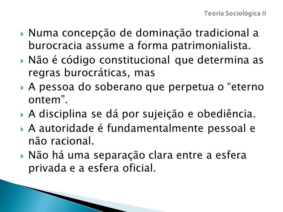 Não é código constitucional que determina as regras burocráticas, mas
