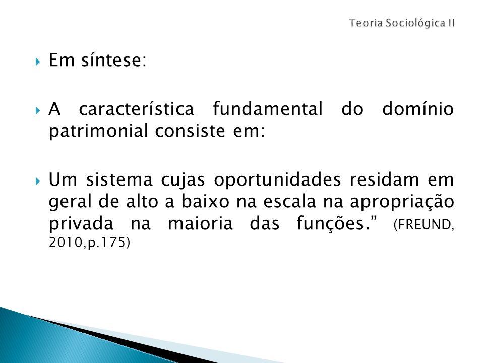 A característica fundamental do domínio patrimonial consiste em: