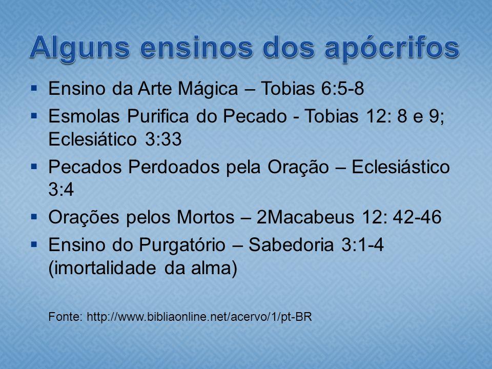 Alguns ensinos dos apócrifos
