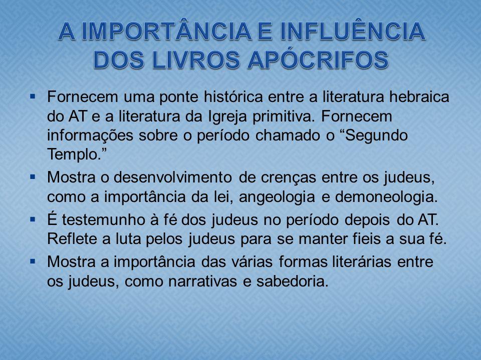 A IMPORTÂNCIA E INFLUÊNCIA DOS LIVROS APÓCRIFOS