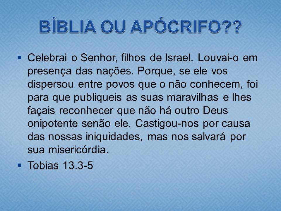 BÍBLIA OU APÓCRIFO