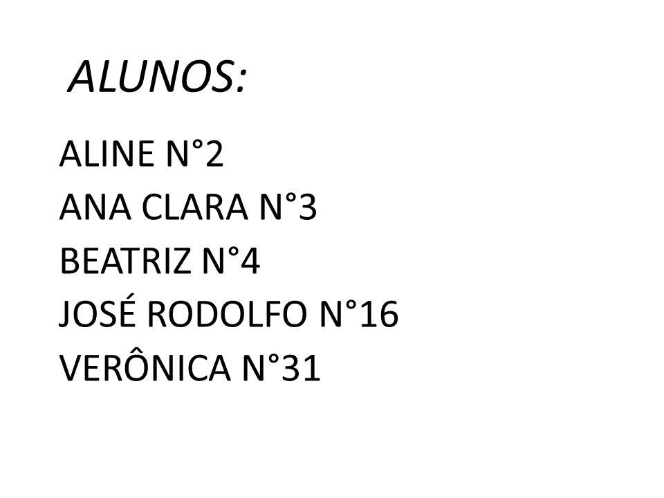 ALINE N°2 ANA CLARA N°3 BEATRIZ N°4 JOSÉ RODOLFO N°16 VERÔNICA N°31