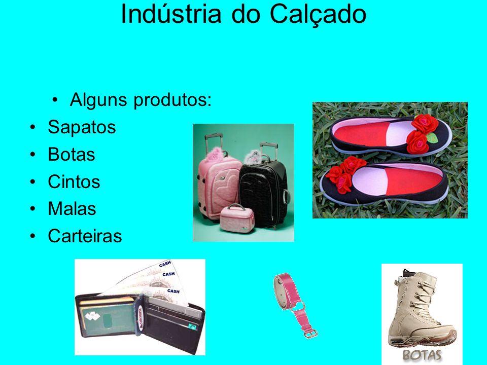 Indústria do Calçado Alguns produtos: Sapatos Botas Cintos Malas