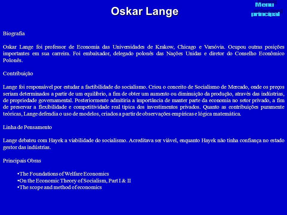 Oskar Lange Menu. principal. Biografia.