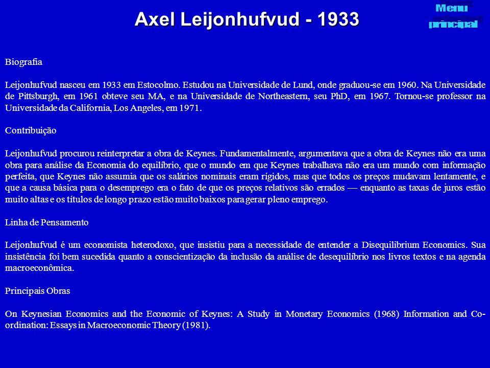 Axel Leijonhufvud - 1933 Biografia