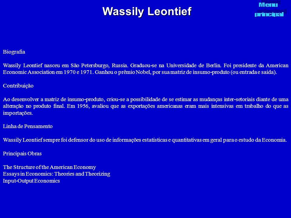 Wassily Leontief Biografia
