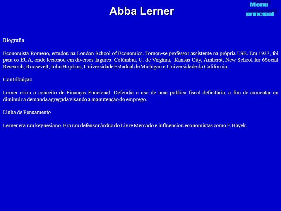 Abba Lerner Menu. principal. Biografia.