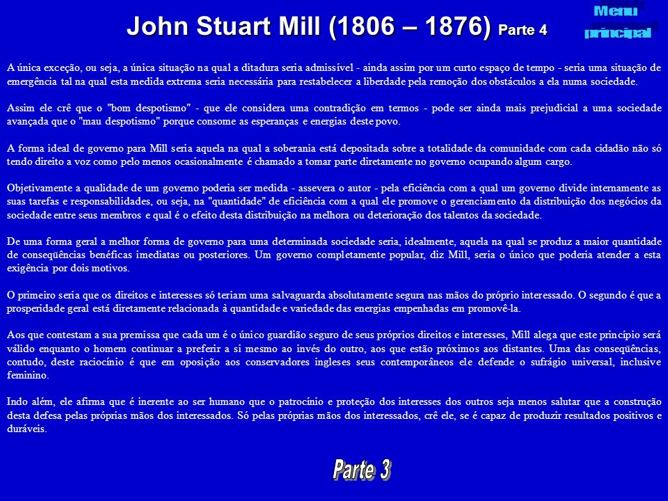John Stuart Mill (1806 – 1876) Parte 4