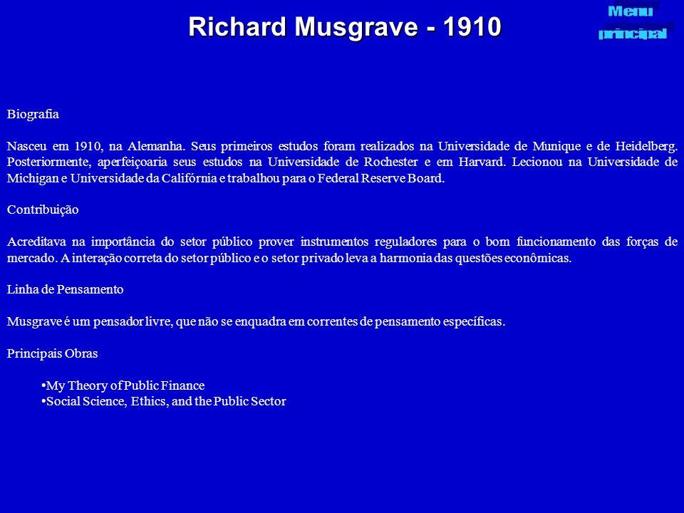 Richard Musgrave - 1910 Biografia