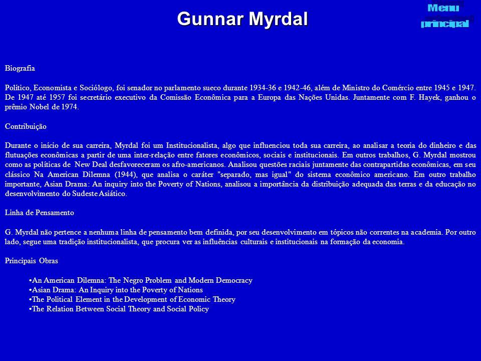 Gunnar Myrdal Menu principal Biografia