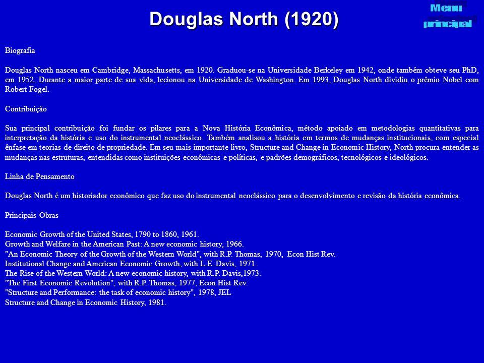 Douglas North (1920) Menu principal Biografia