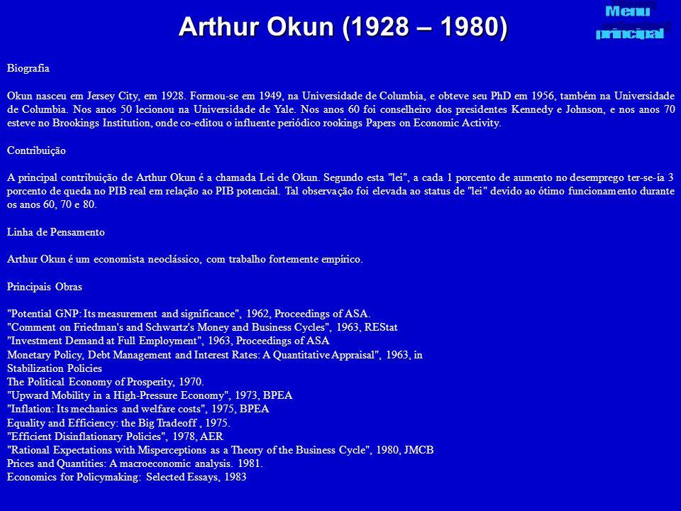 Arthur Okun (1928 – 1980) Menu principal Biografia