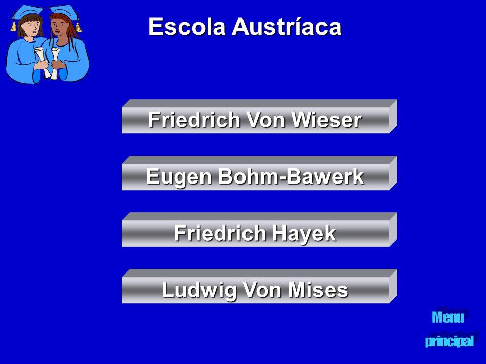 Escola Austríaca Friedrich Von Wieser Eugen Bohm-Bawerk