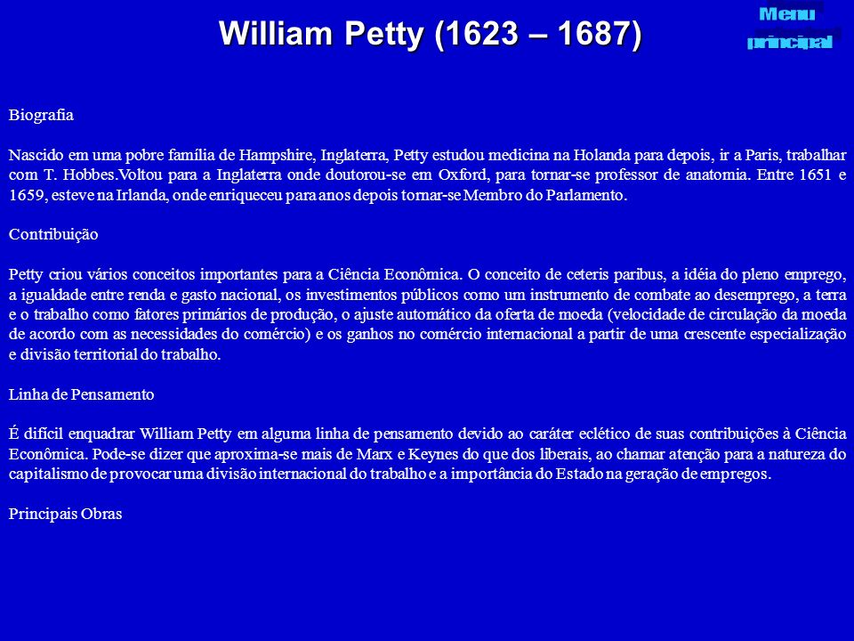 William Petty (1623 – 1687) Biografia