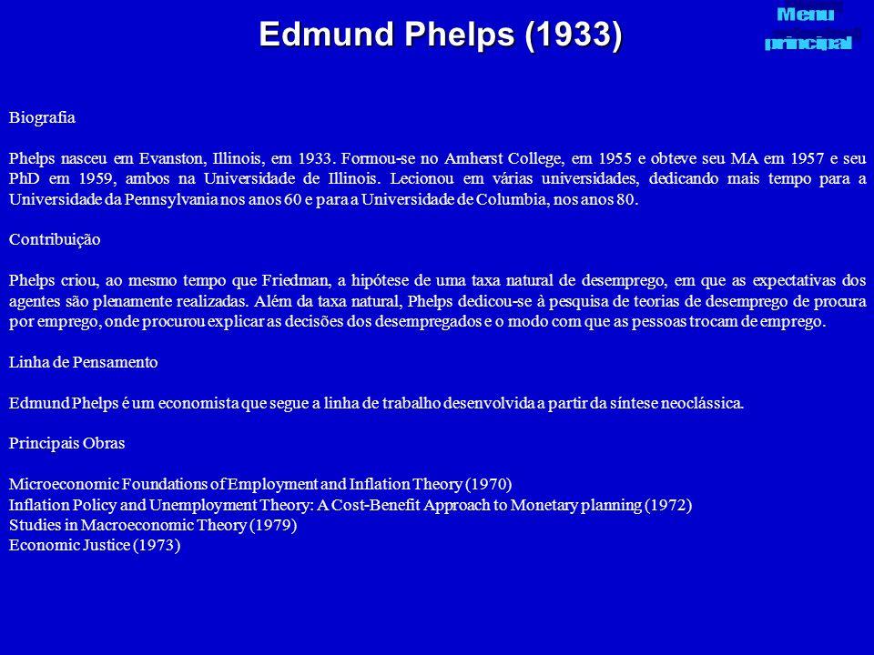 Edmund Phelps (1933) Biografia